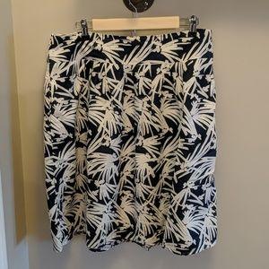 Ann Taylor Factory print skirt